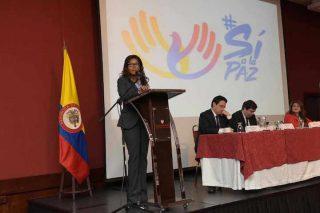 Thứ trưởng Bộ Nội vụ Carmen Ines Vasquez phát biểu.